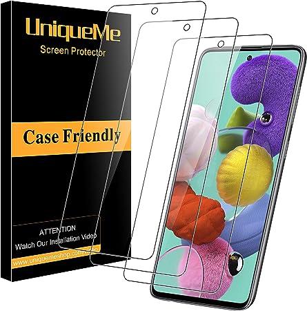Duret/é 9H 3D-Touch Installation Facile 2 Pi/èces Bear Village Verre Tremp/é pour Galaxy A51 Film Protection /Écran Vitre HD pour Samsung Galaxy A51