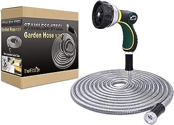 TheFitLife Steel Non-kinking Garden Hose
