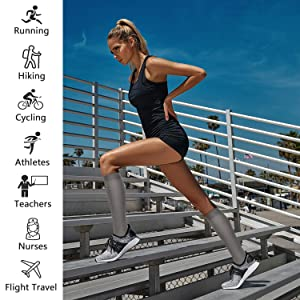 Compression Socks,15-20 mmHg Best Athletic and Medical Socks for Men & Women (Color: Assorted 8-8 Pairs, Tamaño: L-XL)