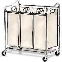 Deals on Simple Houseware Heavy Duty 3 Bag Laundry Sorter Cart