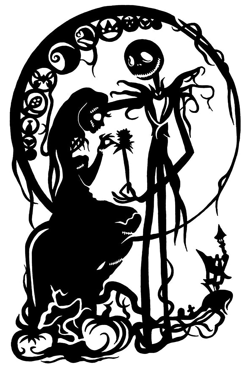 Popular Character Silhouettes Jack Skellington #2 ~ Wall Decal