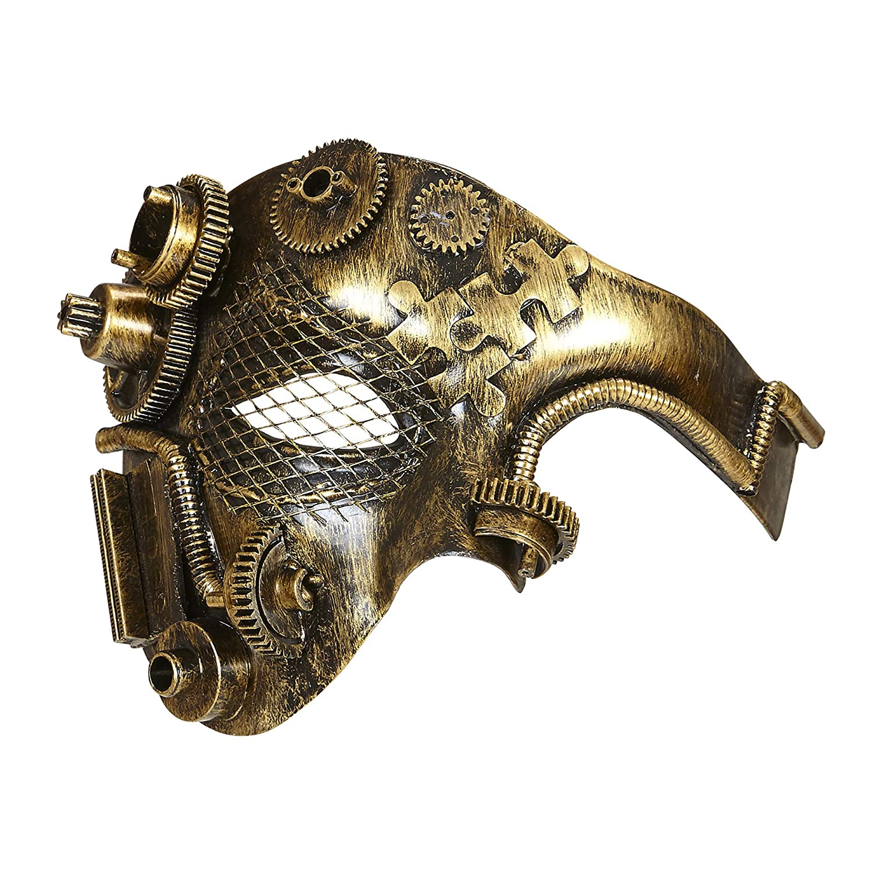Widmann 09647 Halbmaske Steampunk, Kupferfarben, One Size
