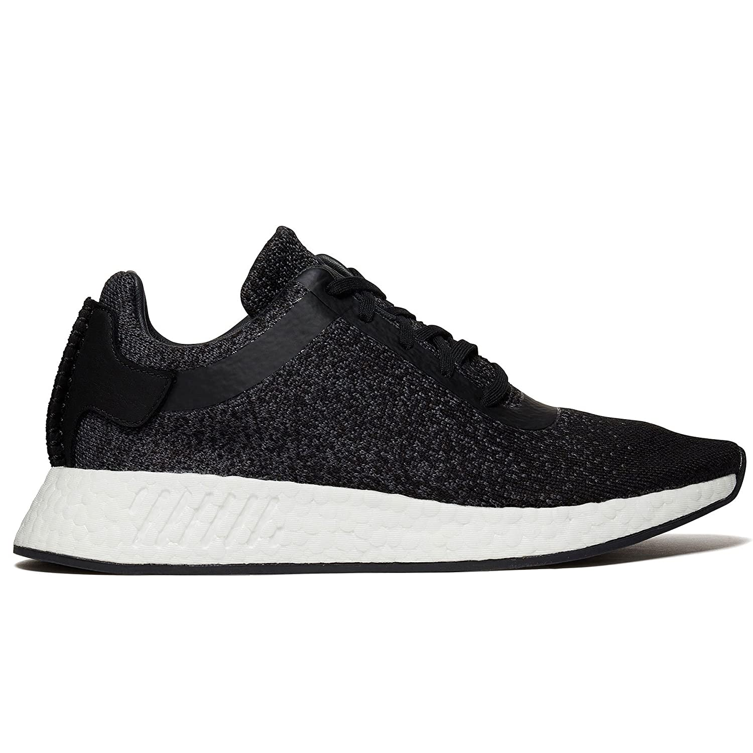 new concept 2f486 ee240 Amazon.com   Adidas x Wings + Horns Men s NMD R2 Primeknit Wool Black Grey  CP9550 (Size  8)   Athletic