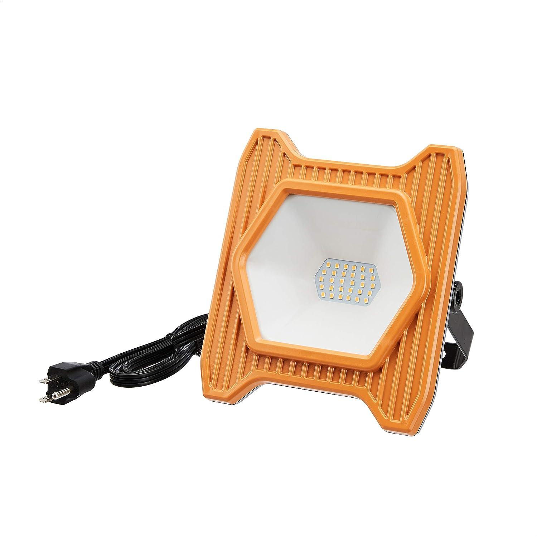 AmazonCommercial, 2000LM, Compact & Portable LED Work Light, 120V, 20W, 5000K, Daylight, 50000H, ETL