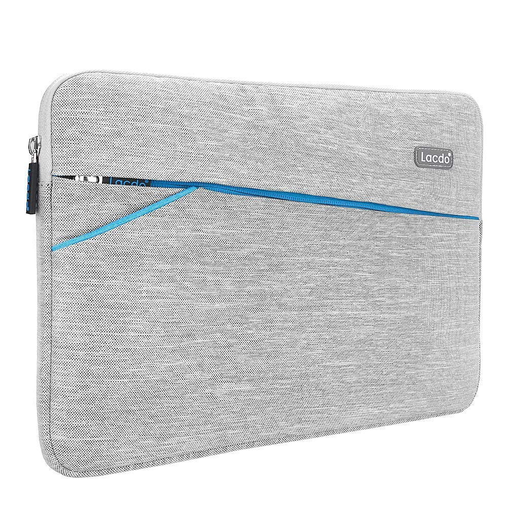Lacdo 13 Inch Waterproof Laptop Sleeve Case Compatible MacBook Pro 13.3-inch Retina 2012-2015 / Old MacBook Air 13'' / iPad Pro/Surface Book/ASUS ZenBook HP Chromebook Bag Carrying Case Gray by Lacdo