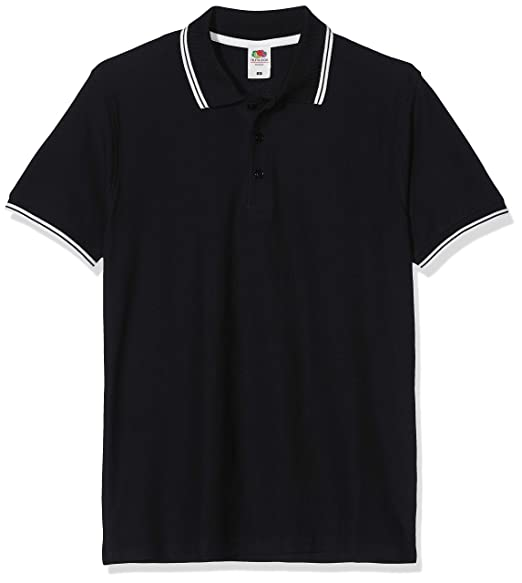 9c2730eb Fruit Of The Loom Mens Tipped Short Sleeve Polo Shirt at Amazon ...