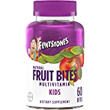 Flintstones Kids Natural Fruit Bites Multivitamin with Immune Health Support, 60 Count (1 Month Supply), Gluten Free…