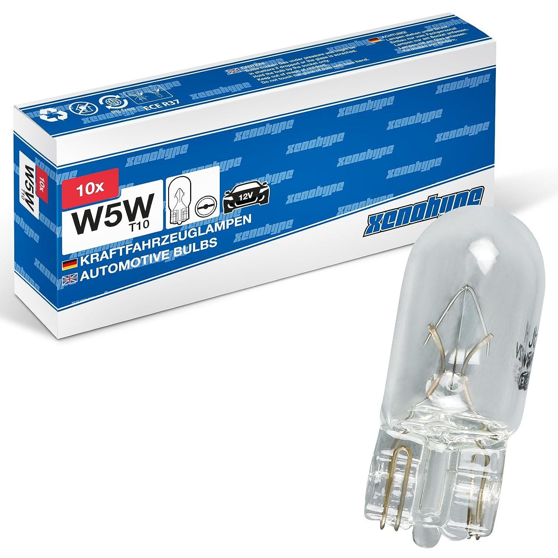 10 x W5 W Xeno Hype Premium T10 12 V Lá mpara Socket de cristal de 5 W xenohype