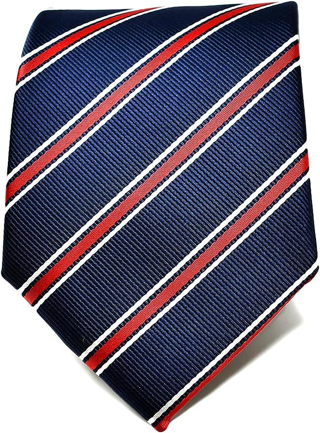 Oxford Collection Corbata de hombre Azul y Rojo a Rayas - 100 ...