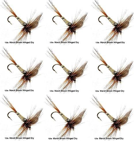 6 pcs March Brown Nymph size 14