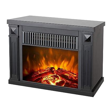 Amazon Com Konwin Small Electric Tabletop Artificial Faux Fireplace
