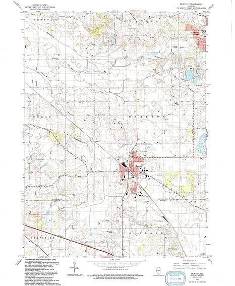 Amazon Com Yellowmaps Huntley Il Topo Map 1 24000 Scale 7 5 X