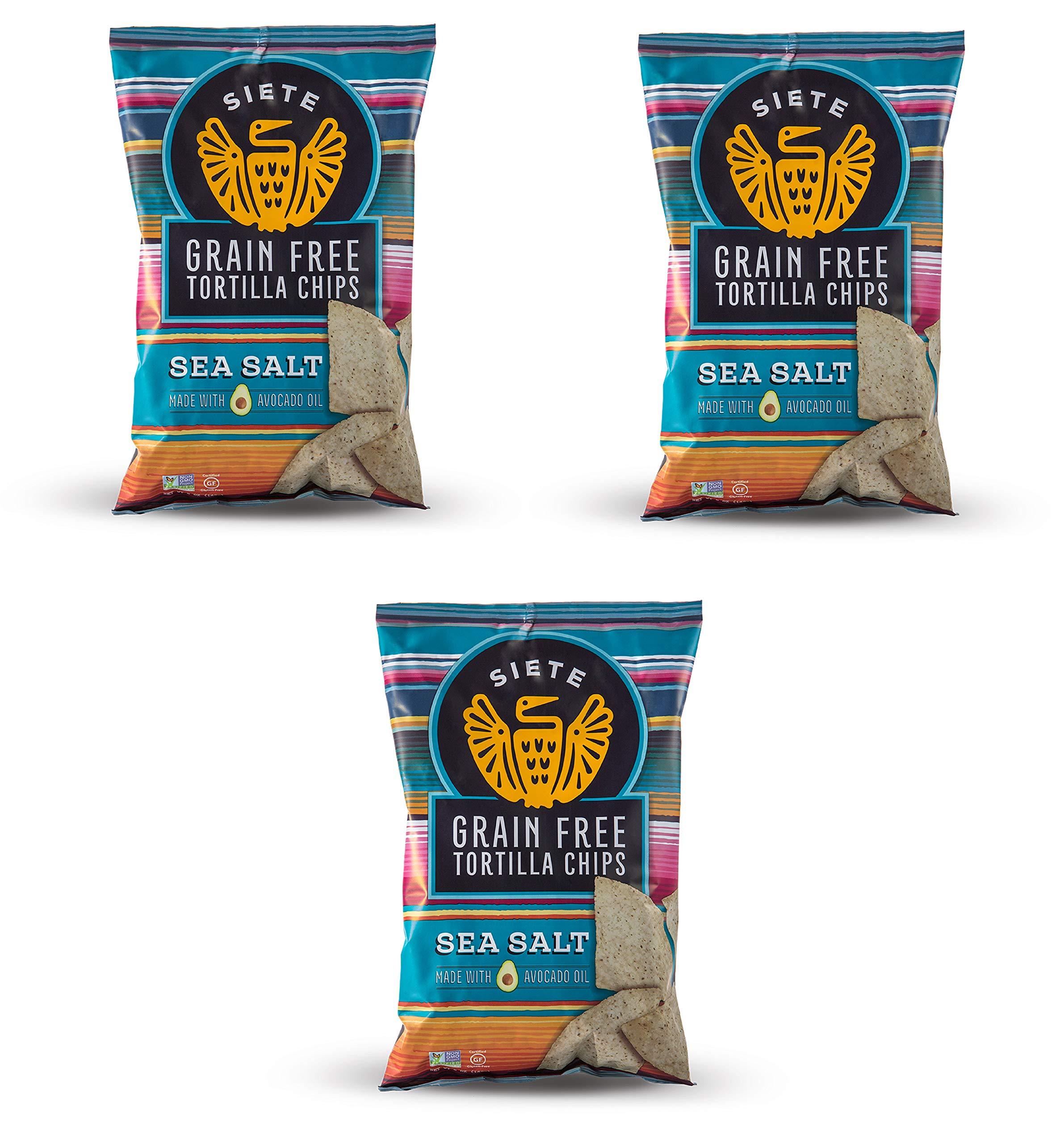 Siete Sea Salt Grain Free Tortilla Chips, 5 oz bags, 3-Pack by Siete