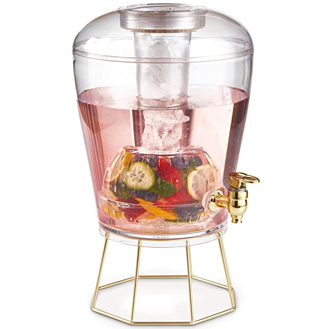 VonShef Dispensador de Bebidas con Infusor de Frutas de 8L: Amazon.es: Hogar