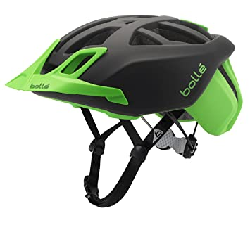 Bollé The One MTB Cascos Ciclismo, Unisex Adulto, Black/Flash Green, 54
