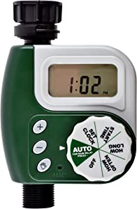 Segomo Tools Programmable and Weatherproof Single Outlet Hose Faucet Digital Watering Timer - WT1