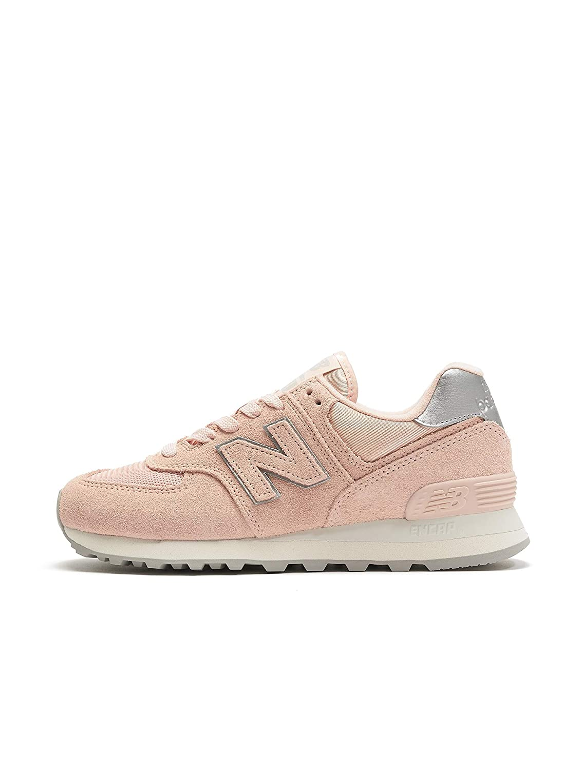 Rosa (Rosa Ps) New Balance Damen 574 Sateen Tab Turnschuhe