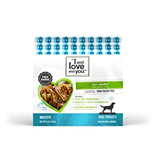 """I And Love And You"" Ear Candy Pig Ear Strips Dog Chew, 16 Oz"