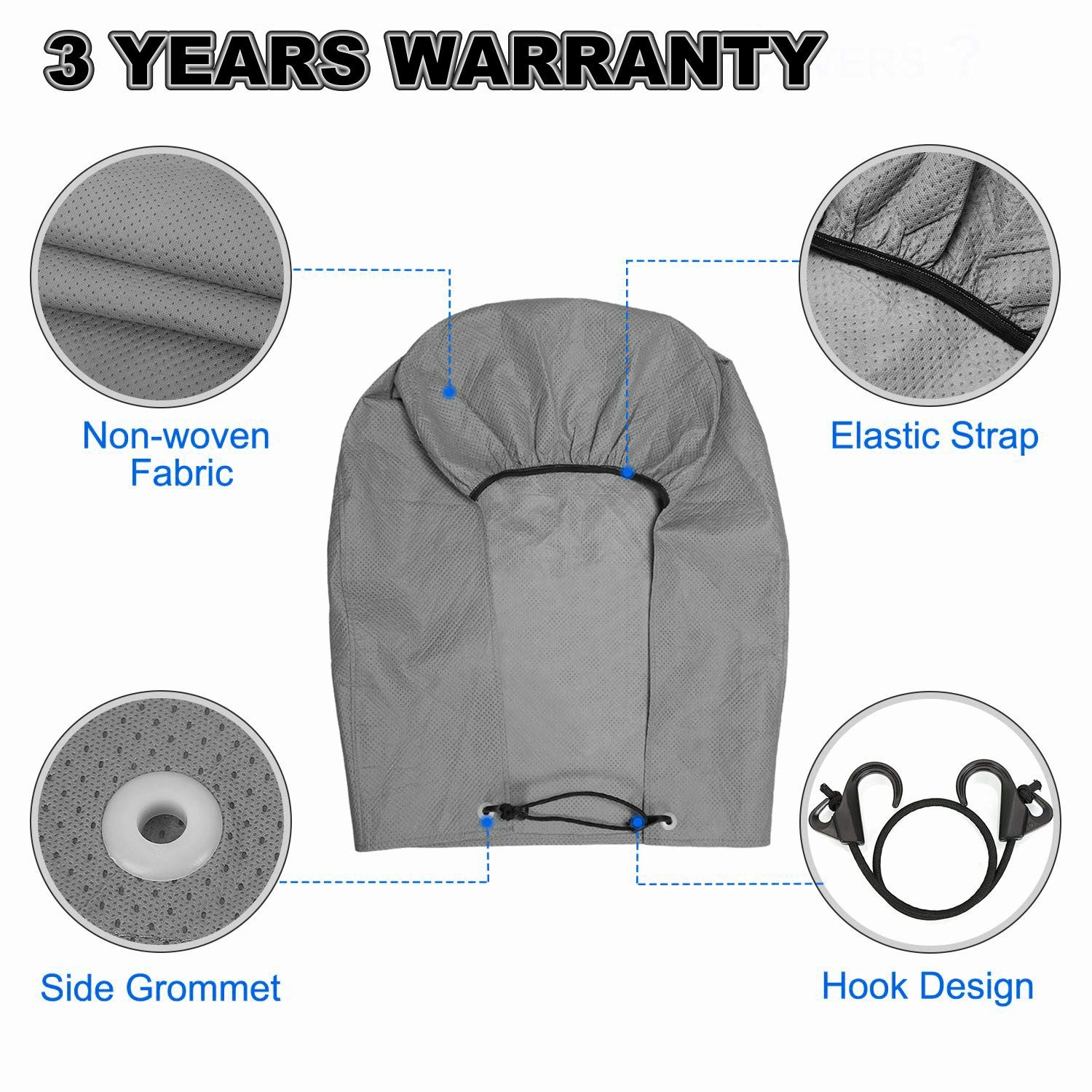 NicoMoO Tire Covers for RV Wheel Set of 4 Extra Thick 5-ply Motorhome Wheel Covers Waterproof UV Coating Tire Protectors for Trailer Truck Camper Auto 29-32