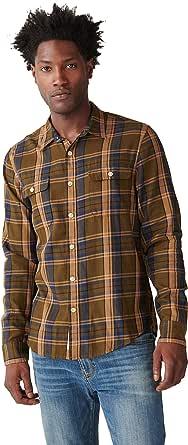 Lucky Brand Men's Long Sleeve Button Up Mateo Twill Humboldt Workwear Shirt