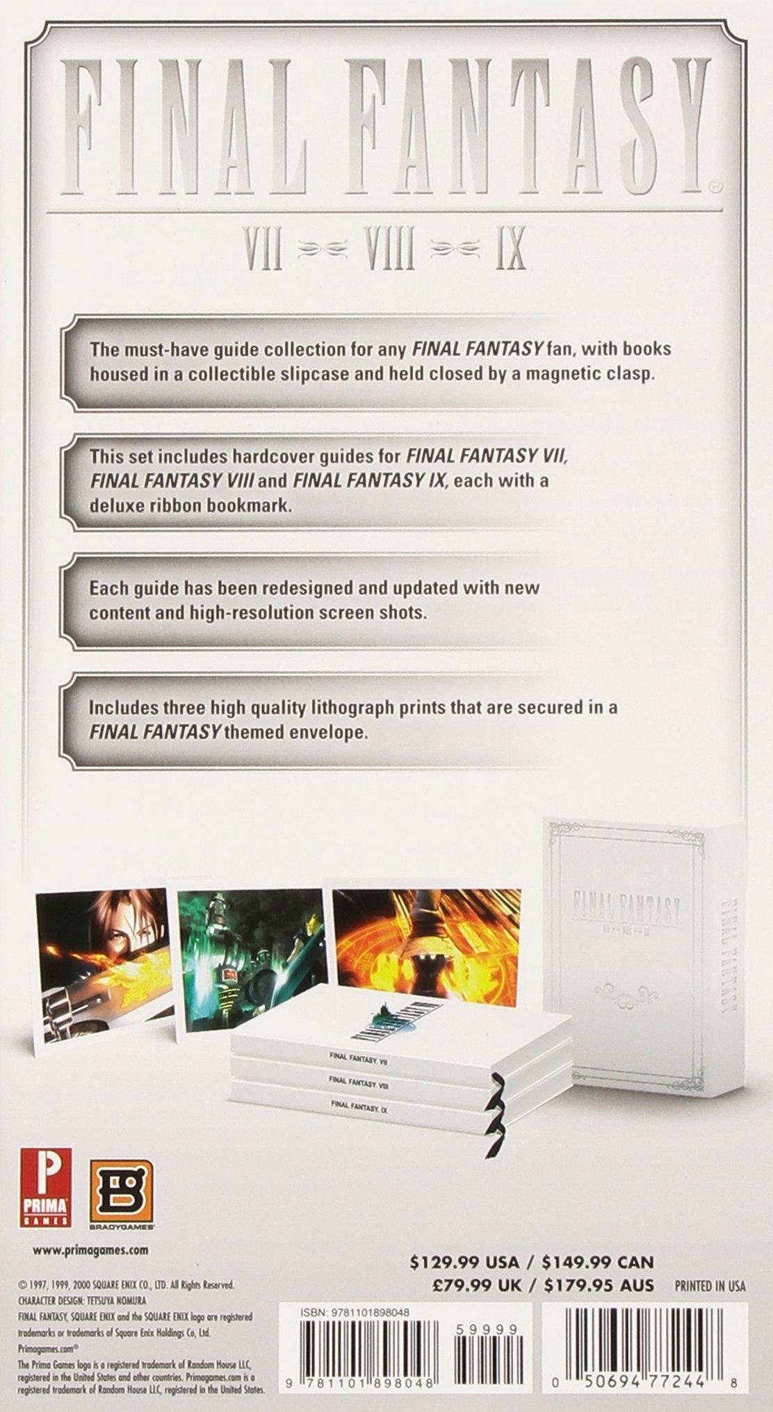 FINAL FANTASY Box Set (FFVII, FFVIII, FFIX): Prima Games