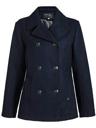 dalmard Marineblau – Caban Damen Wolle Made in Frankreich