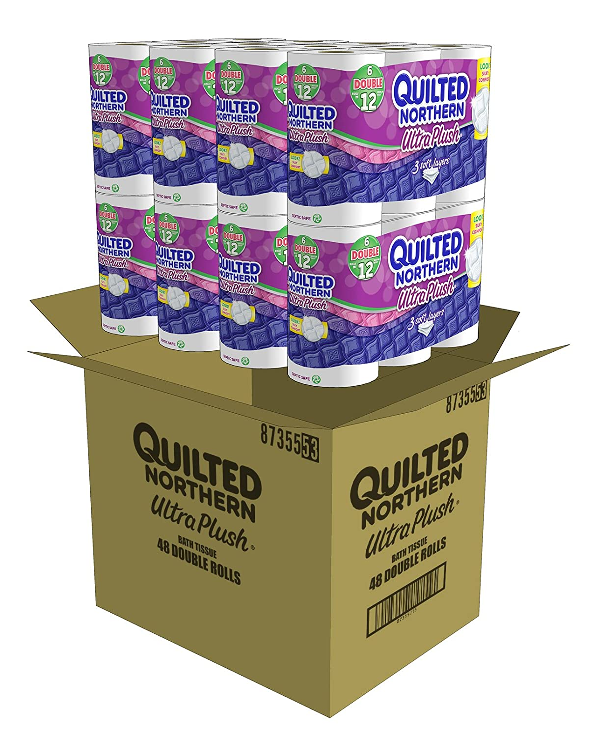 Amazon.com: Quilted Northern Ultra Plush Bath Tissue, 48 Double ...