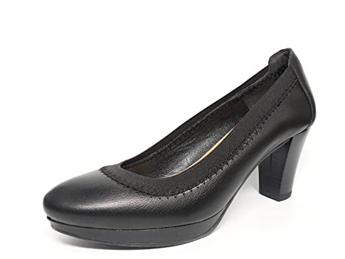 es 6143N en y complementos marca 250 JAEN Zapato color Zapatos negro MARIA la Amazon salon con elastico CALMODA piel mujer de TnxqHnS
