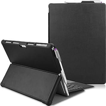 ProCase Funda Folio para Surface Pro 7/Pro 6/Pro 2017/Pro 4/ Pro LTE, Carcasa Tipo Libro Delgada Dura con Soporte y Portalápiz Incorporado, Compatible ...