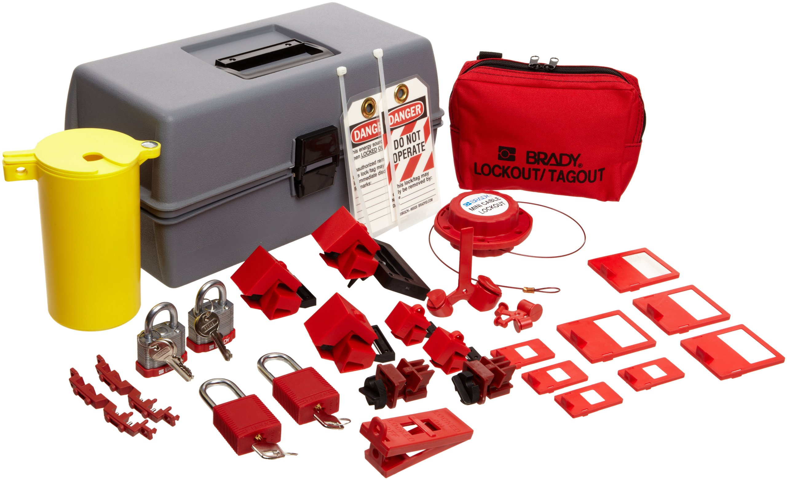 Brady Electrical Lockout Toolbox Kit, Includes Steel Padlocks and Tags