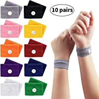 Sickness Bands, Jane Choi 10 Pairs Anti Nausea Bands Morning Sickness Wrist Bands for Children Kids Adult Pregnancy, Travel Wristbands Nausea Relief Bracelets for Sea Car Airplanes