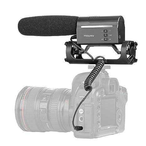 Micrófono cañón de condensador de vídeo profesional para cámaras digitales SLR y videocámaras,Micrófono para