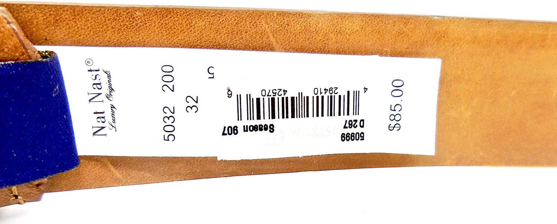 Nat Nast Belt,Luxury Italian Leather,Metal Buckle,Nordstrom Rack 32, Brown Woven