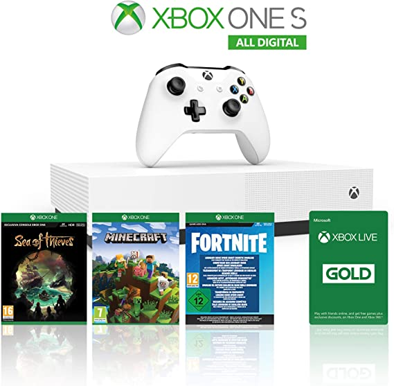 Xbox One S 1TB All Digital Edition Console + 1 Mese Xbox Live Gold ...
