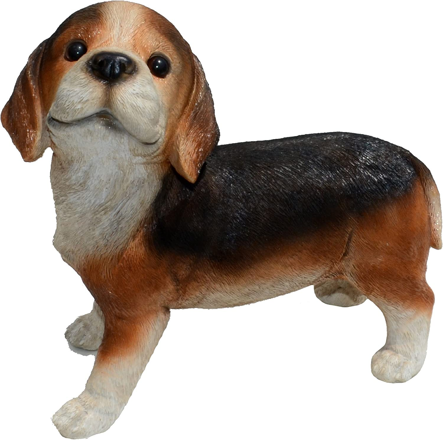 Michael Carr Designs Nosy-Beagle L Puppy Love Outdoor Dog Figurine for Gardens, patios and lawns (80096)
