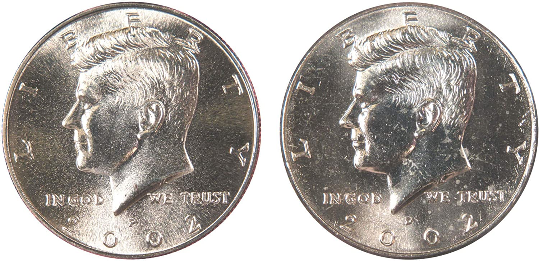 1980 P /& D Kennedy Half Dollar 2 Coin Set Denver Mint Philadelphia Mint