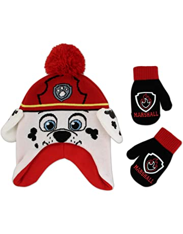 618fc70ff91 Nickelodeon Boys  Toddler Paw Patrol Character Scandi Hat and Mittens Set