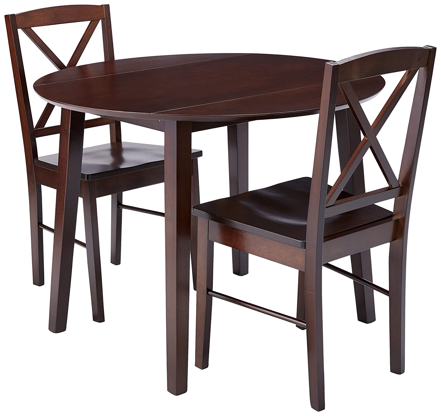Amazon Kings Brand Furniture 3 Piece Wood Dinette Drop Leaf