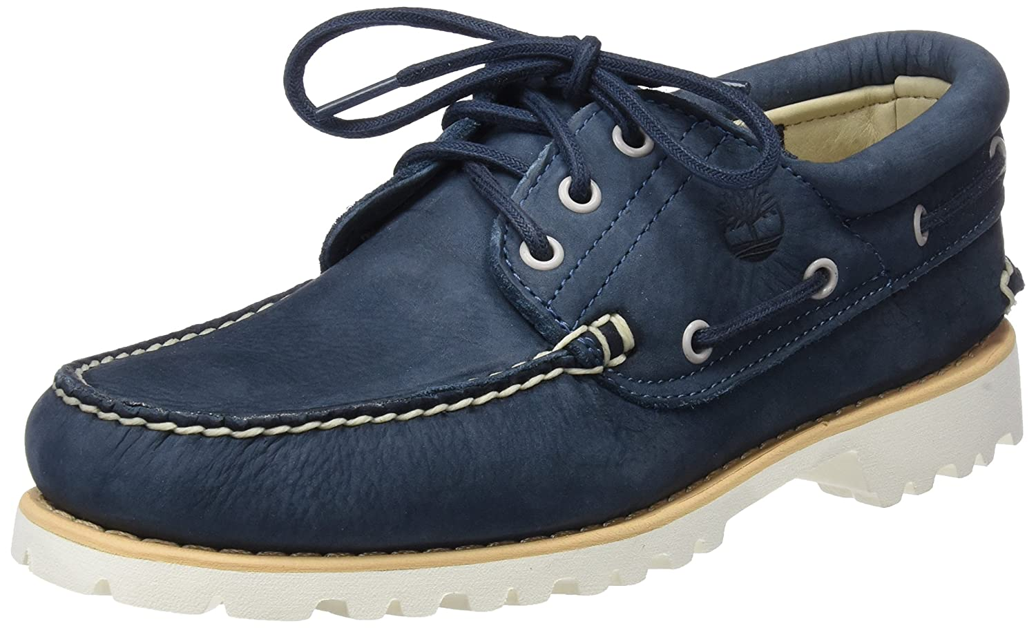 dfa006f9e48 Timberland Men's Chilmark 3 Eye Hands Leather Boat Shoes, Blue, 11.5 ...
