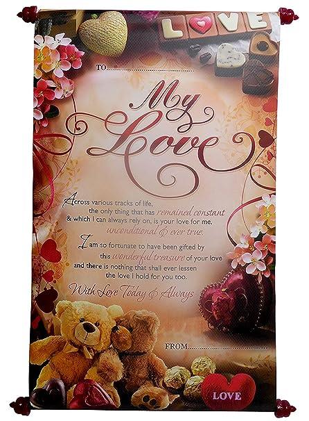 Natali love message scroll card amazon toys games natali love message scroll card m4hsunfo