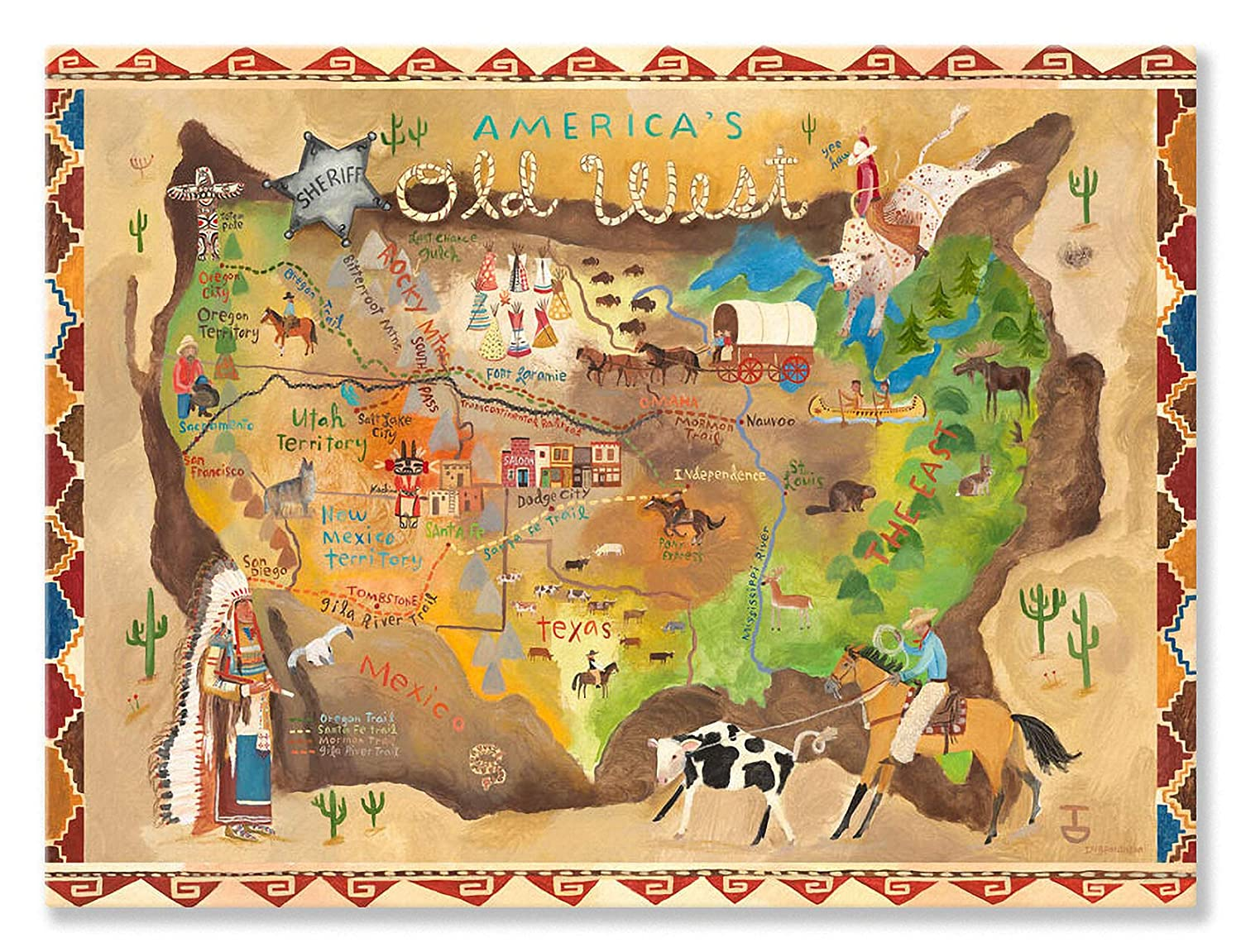 Oopsy Daisy America 's Old Old America Westストレッチキャンバス壁アートby Donna 's Ingemanson 24 by 18-Inch PE0853 24 by 18-Inch B0058U1N3A, 南青山Flower&Aroma:86a23f8e --- ijpba.info
