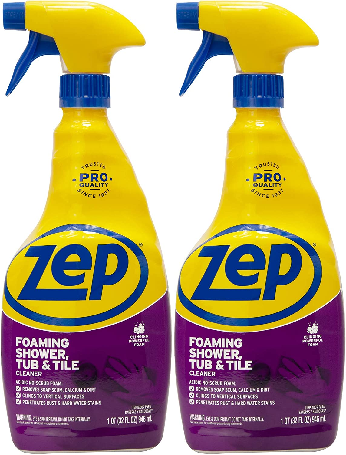 Amazon Com Zep Foaming Shower Tub And Tile Cleaner 32 Ounce Zupftt32 Pack Of 2 Health Personal Care