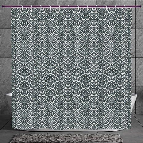 Unique Shower Curtain 2 0 [ Damask,Monochrome Revival