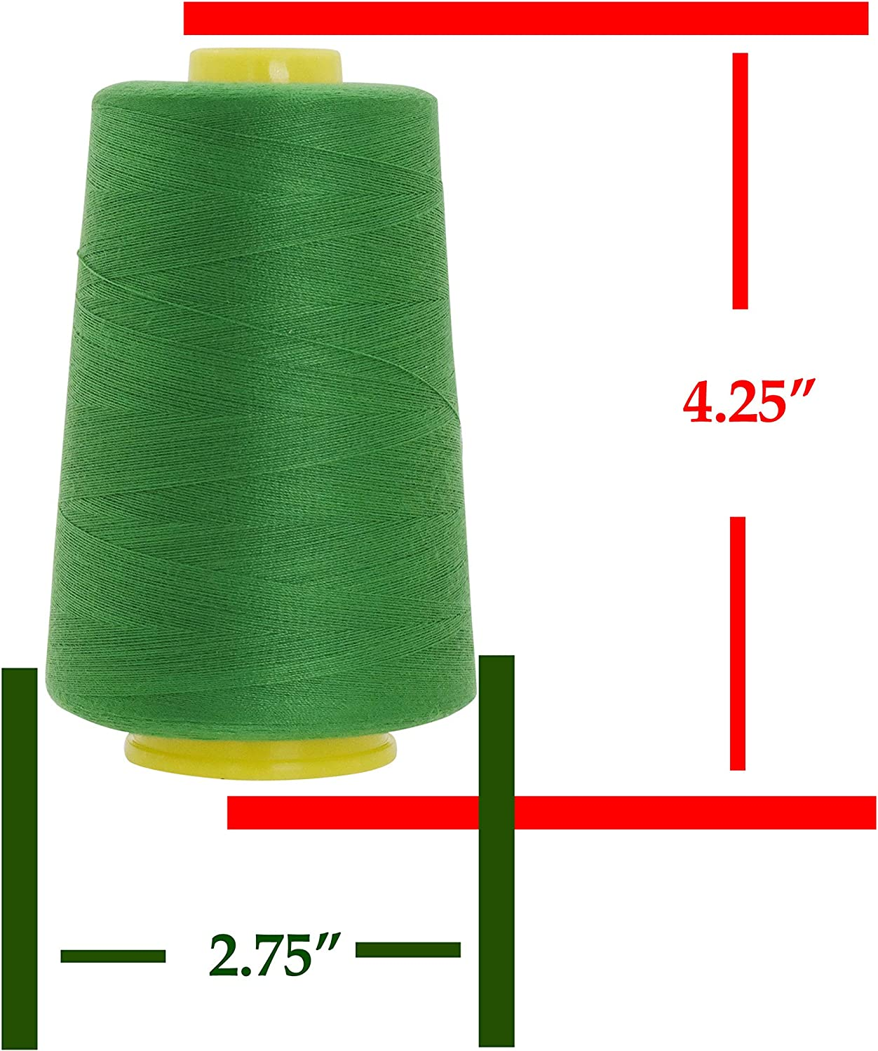 Overlock 4 Cones 6000 Yards Each, Red Mandala Crafts All Purpose Sewing Thread from Polyester for Serger Sewing Machine Quilting