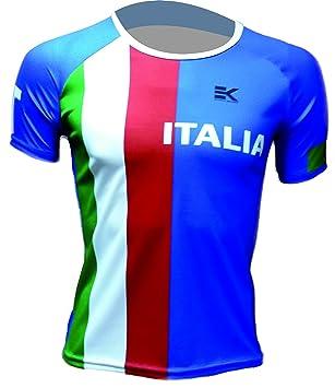 CAMISETA EKEKO ITALIA FLAG, UNISEX, running y deportes en general (XS, MANGA CORTA): Amazon.es: Deportes y aire libre