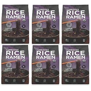 Lotus Foods Gourmet Organic Forbidden Rice Ramen Noodles, 10 Ounce, 6 Count
