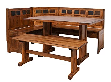 sunny designs sedona breakfast nook set with side bench - Sunny Designs Desk