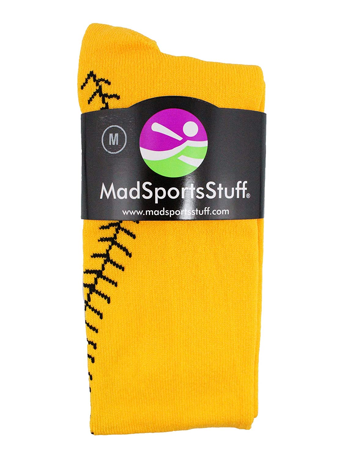 MadSportsStuff Softball Socks with Stitches Over The Calf Multiple Colors