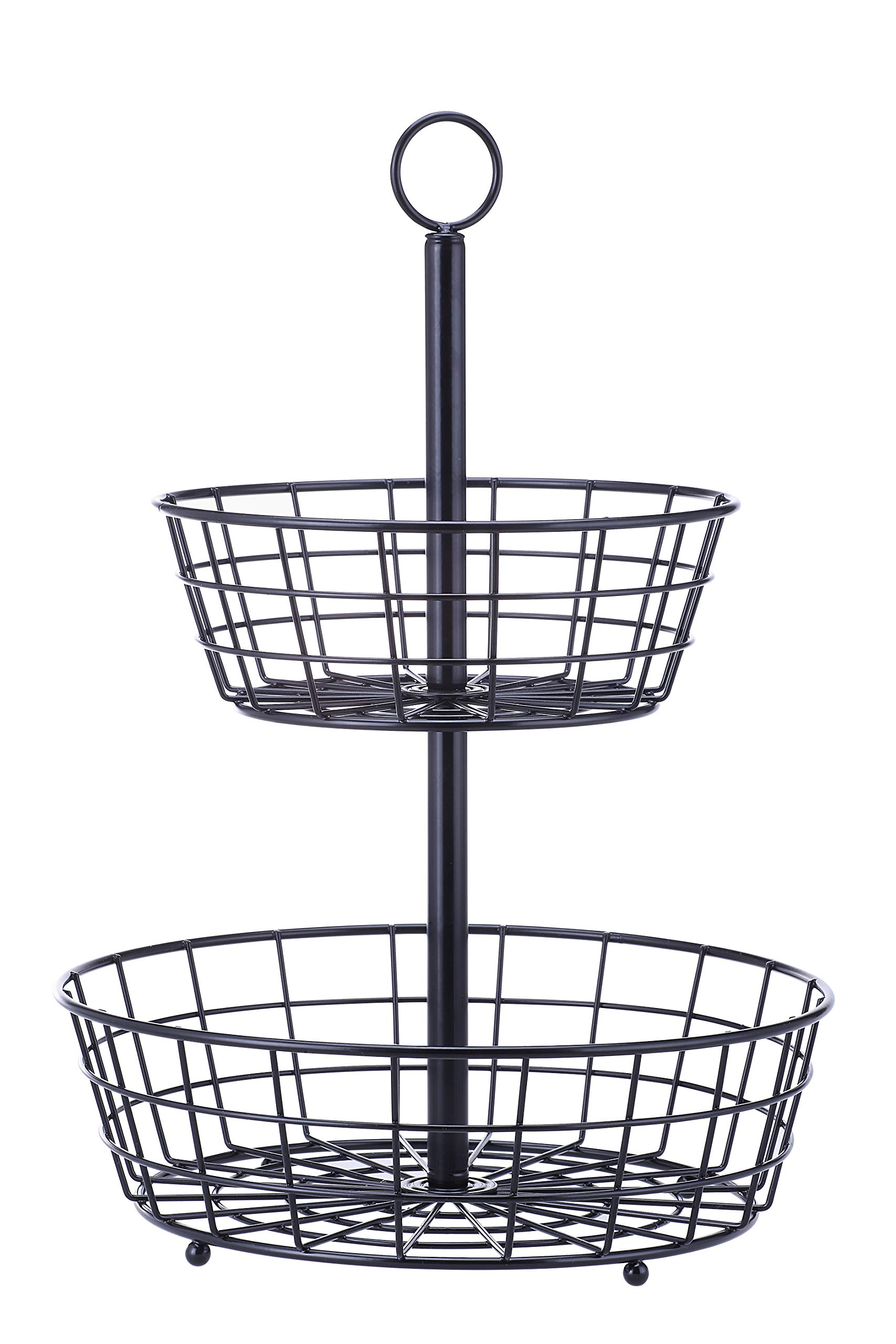 SunnyPoint Tabletop 2-Tier Countertop Fruit Basket Stand by SunnyPoint (Image #4)