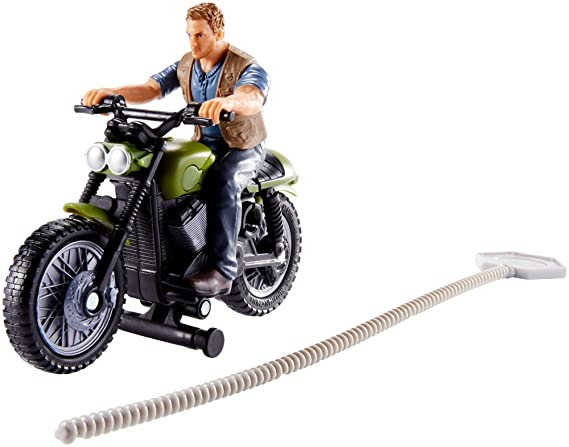 Amazon.com: Jurassic World Rip-Run Dinos Owen & Motorcycle: Toys & Games